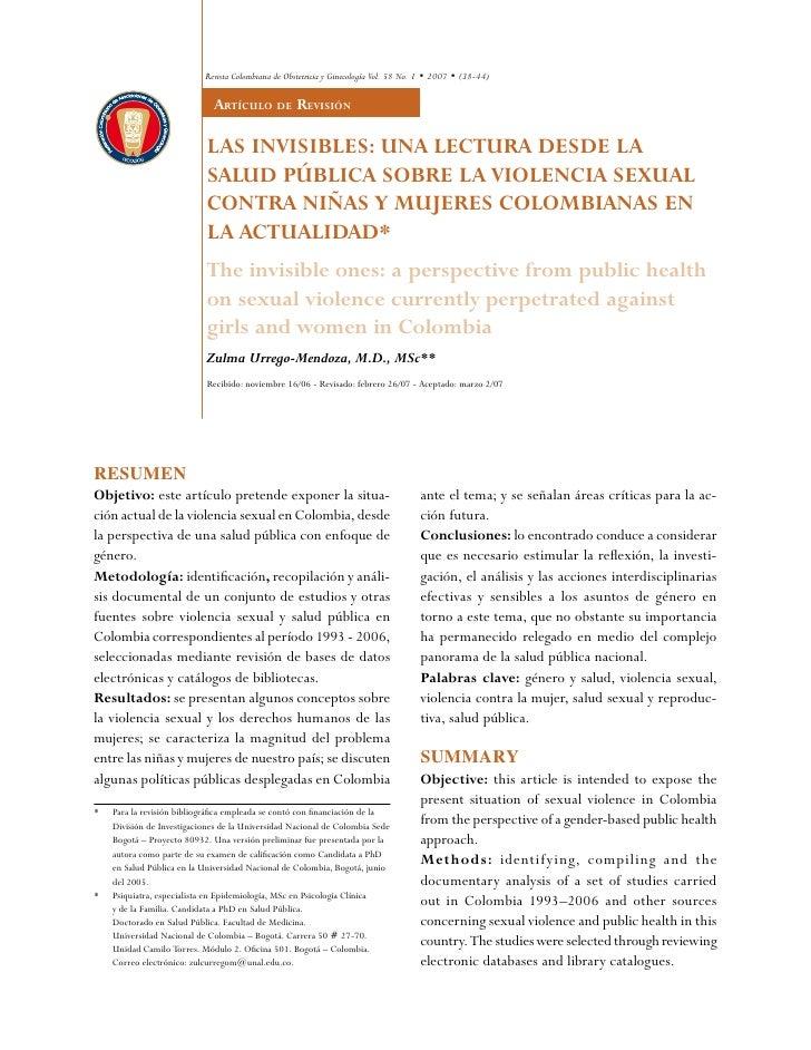 Revista Colombiana de Obstetricia y Ginecología Vol. 58 No. 1 • 2007 • (38-44)                                artíCulo dE ...