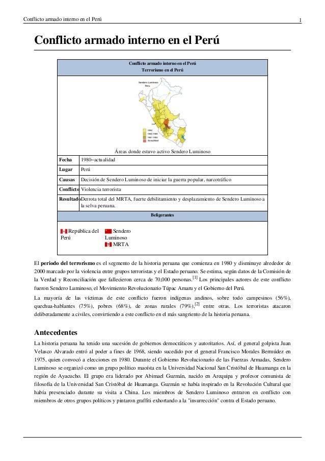 Conflicto armado interno en el Perú                                                                                       ...