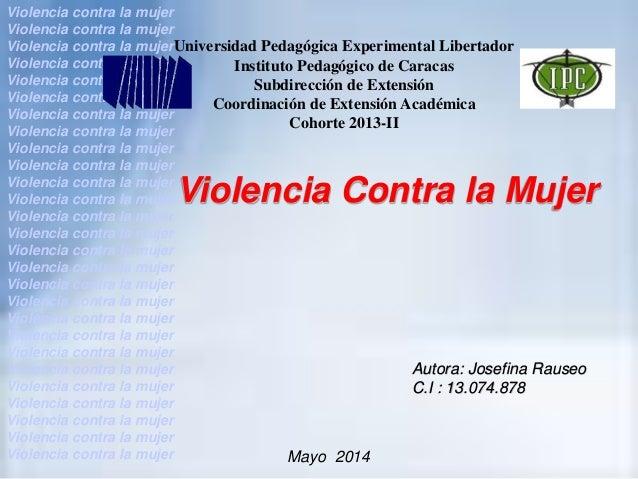 Violencia contra la mujer ipc.