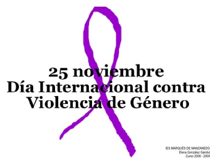 IES MARQUÉS DE MANZANEDO        Elena González Gandul            Curso 2008 - 2009