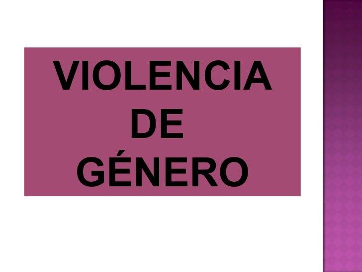 Violencia de género 2