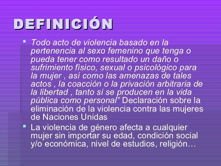 Violencia de genero definición