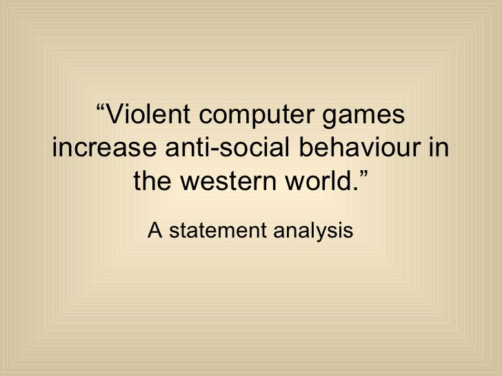 an analysis of violent behavior in society What are the origins of criminal behavior criminology the three levels of analysis introduction : any behavior which has a criminal and violent behavior.