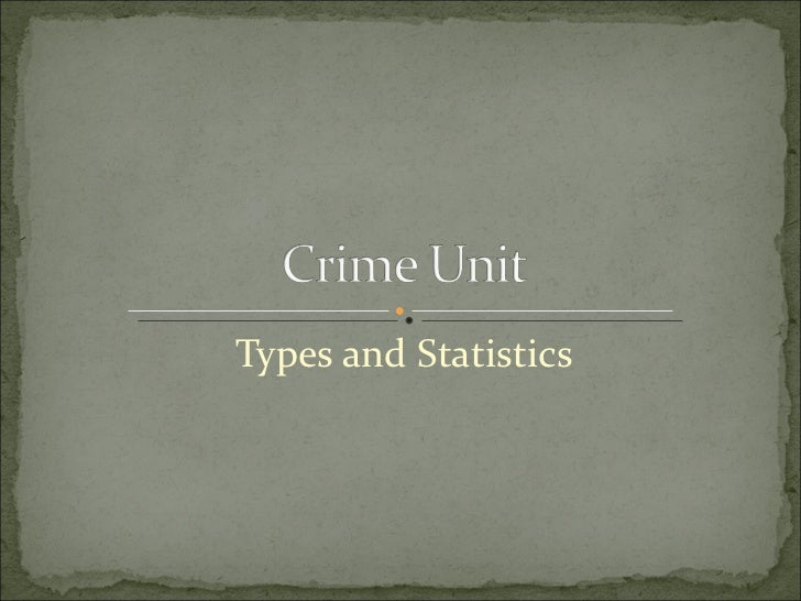Types and Statistics