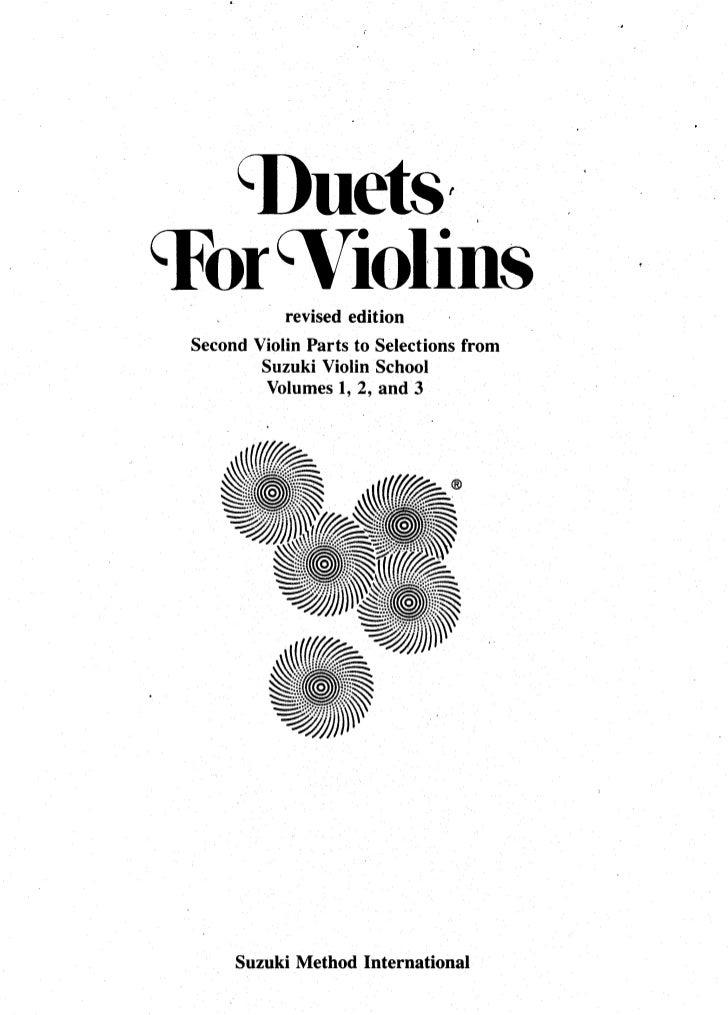 Violino   estudos - suzuki - duetos para violinos (www.sheetmusic-violin.blogspot.com)
