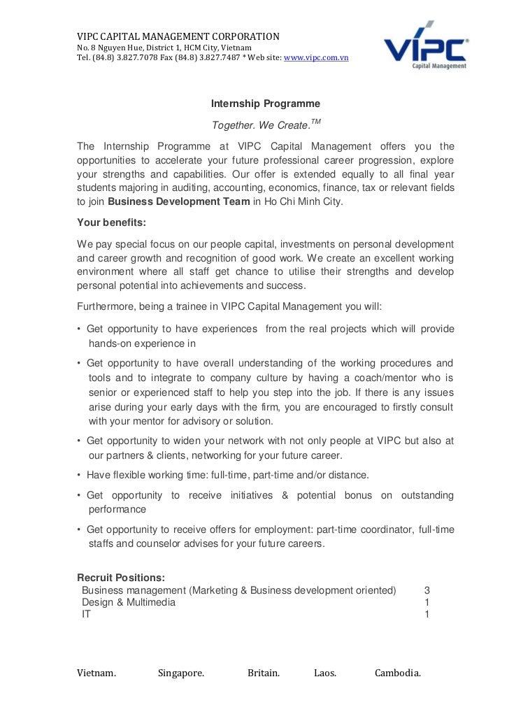 Vipc internship description april 01  together.we create.
