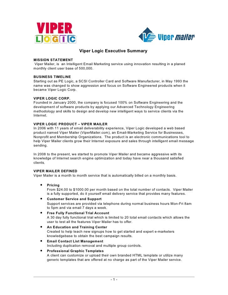 Viper Mailer Business Outline