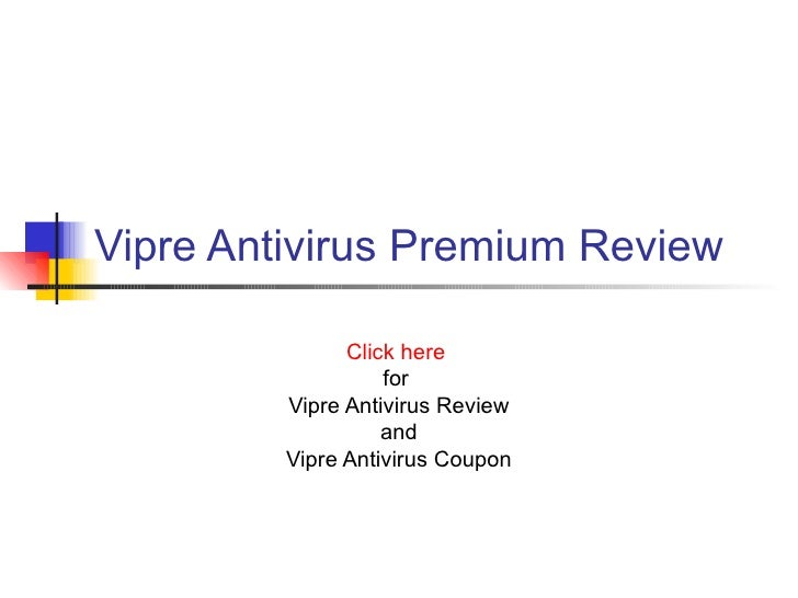 Vipre antivirus discount coupon