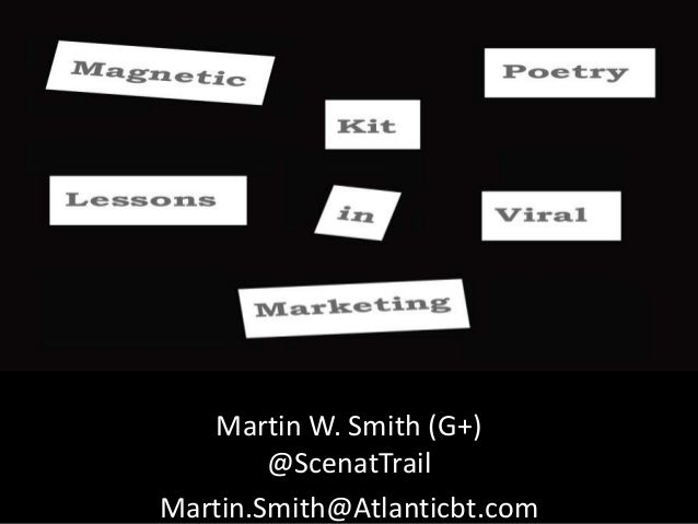 Viral Marketing Lessons Learned From Magnetic Poetry Kit
