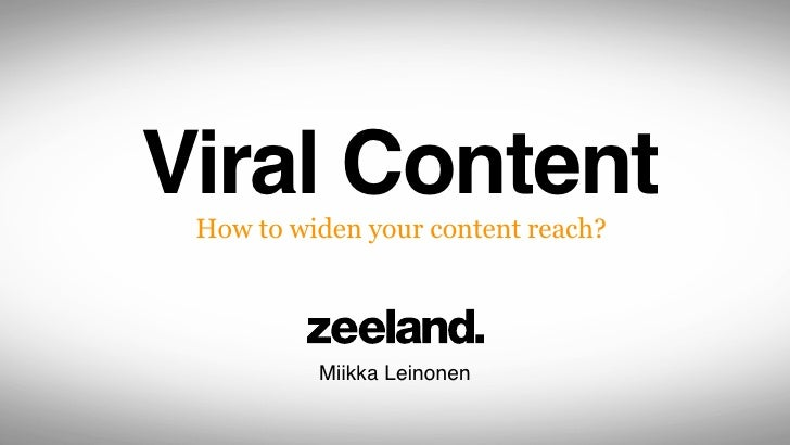 How to widen your content reach?