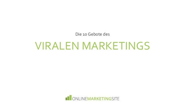 VIRALEN MARKETINGS Die 10 Gebote des