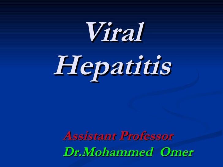 Medicine 6th year, Acute Viral Hepatitis