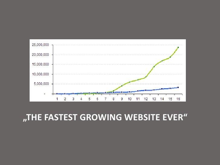 """The fastest growingwebsiteever""<br />"