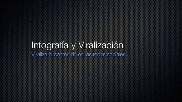 Infografía y Viralización Viraliza el contenido en las redes sociales.