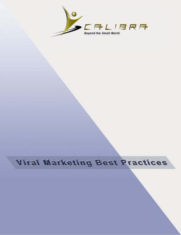 Viral Marketing Best Practices by Calibra