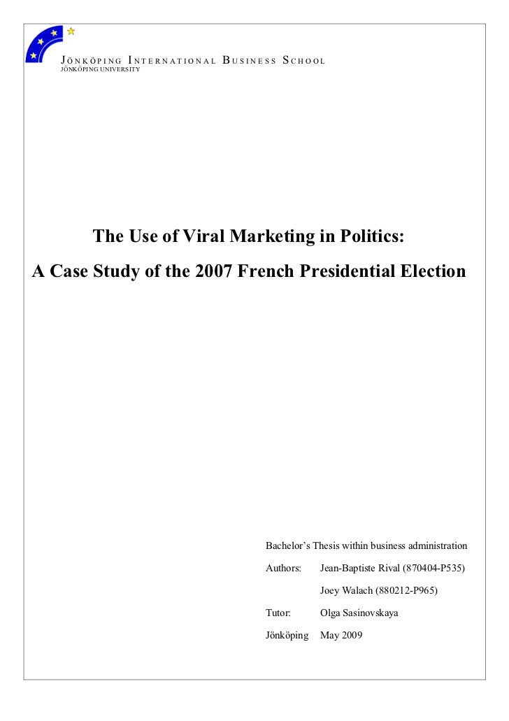 Viral marketing in politics