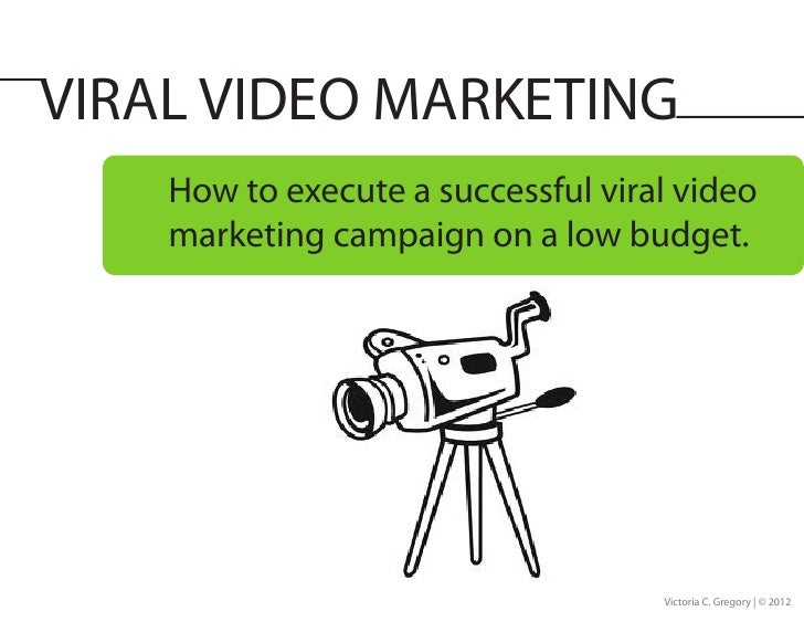VIRAL VIDEO MARKETING    How to execute a successful viral video    marketing campaign on a low budget.                   ...