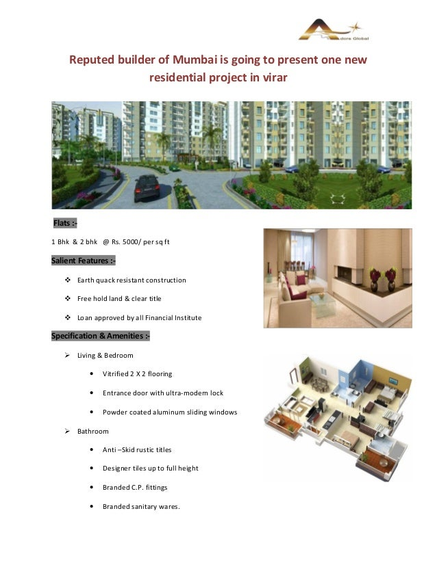 2 bhk flats for sale in virar 9304611353