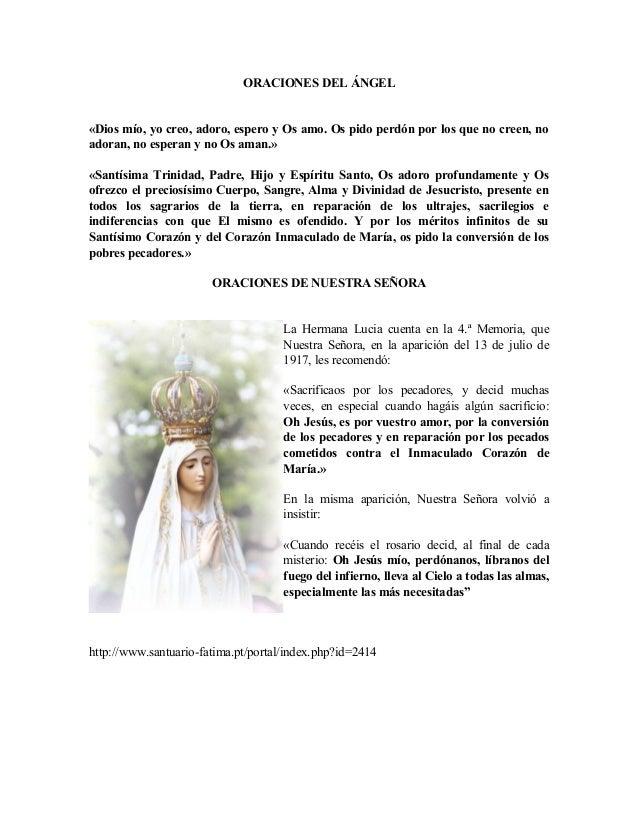 ORACION MILAGROSA ALA VIRGEN DE FATIMA - YouTube - Holiday and ...