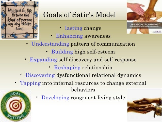 five stages of the satir change model Virginia satir change process model is a five-stage psychological model  developed through clinical studies it focuses not just on systems of people but  also on.
