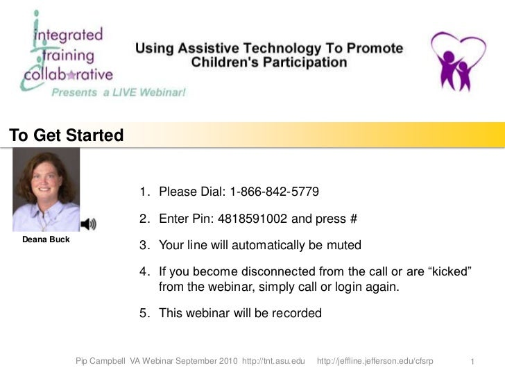 Using Assistive Technology to Promote Children's Participation
