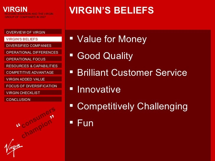 ansoff virgin Introduction this report closely examines the virgin group's corporate strategy / rationale and identifies the relationships namely of strategic nature within the virgin empire.