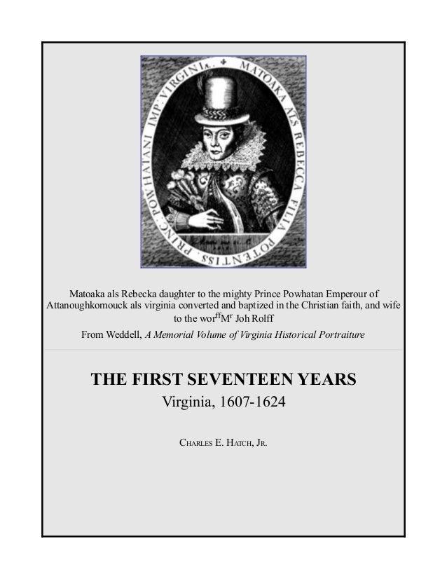 Virginia, 1607 - 1624, History, Jamestown, Free eBook