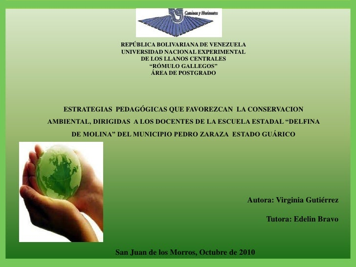 """REPÚBLICA BOLIVARIANA DE VENEZUELA<br />UNIVERSIDAD NACIONAL EXPERIMENTAL<br />DE LOS LLANOS CENTRALES<br />""""RÓMULO GALLEG..."""