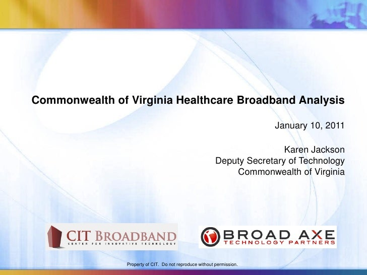 Virginia healthcare broadband report