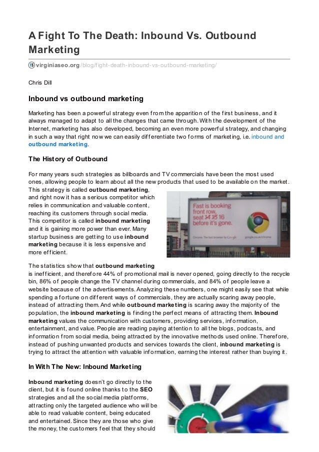 A Fight To The Death: Inbound Vs. Outbound Marketing