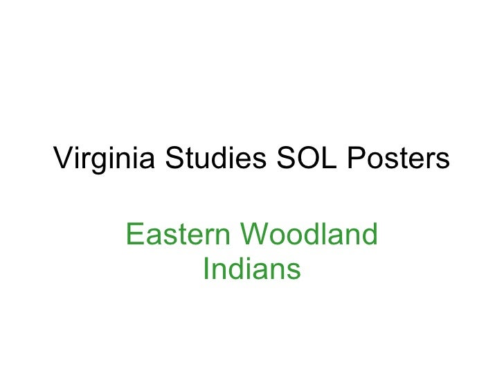 Virginia Studies Sol Posters Eastern Woodland Indians