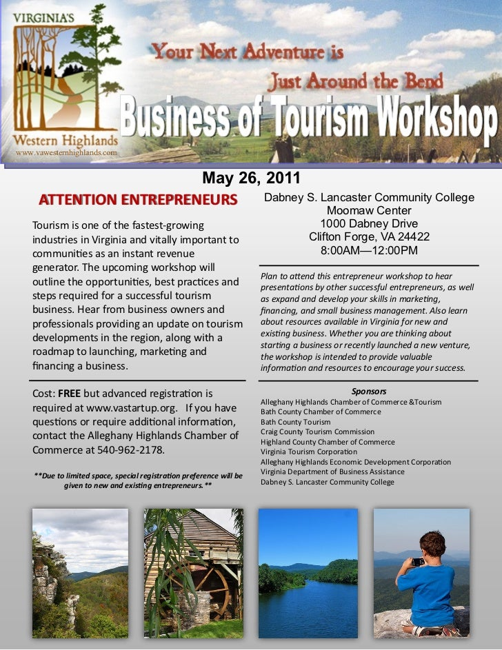 Virginia's Western Highlands Business of Tourism Workshop, May 26, 2011