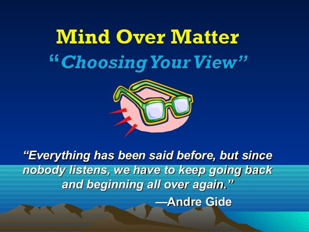 Mind Over Matter: Choosing Your Attitude