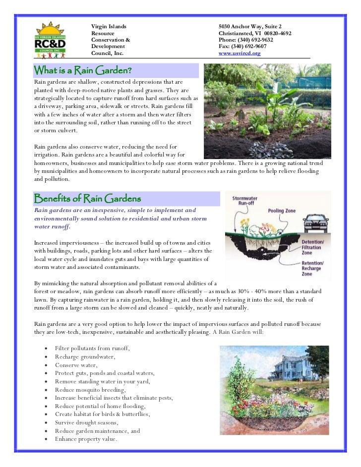 Virgin Islands: Rain Garden Fact Sheet