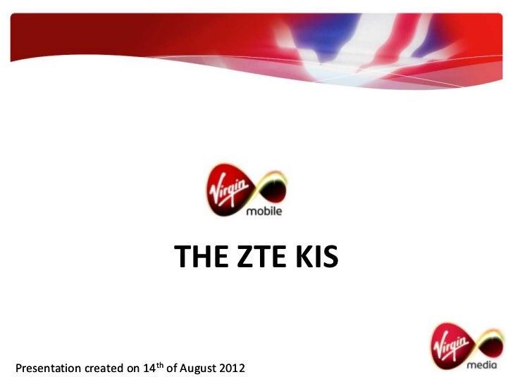 Virgin Mobile - The ZTE Kis