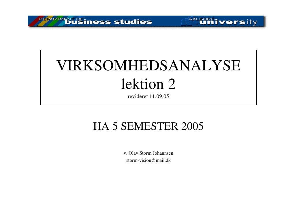 Virksomhedsanalyse 2005