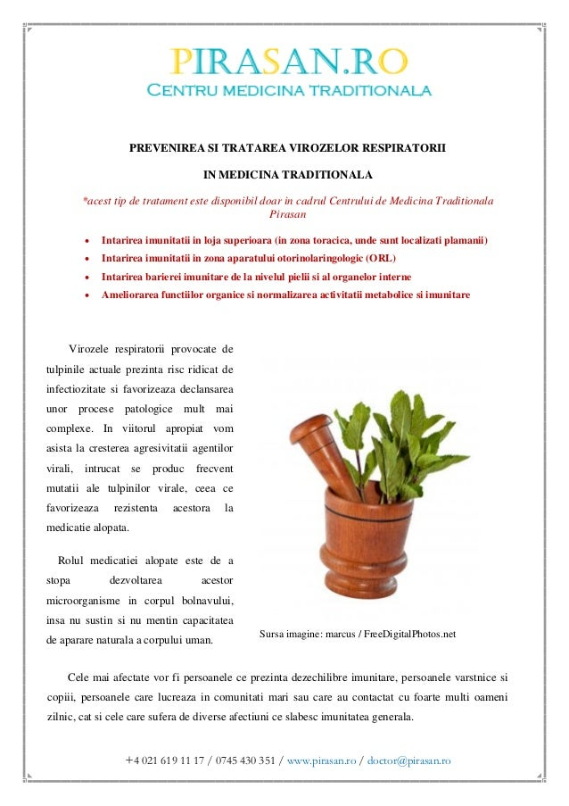 Prevenirea si tratarea virozelor respiratorii