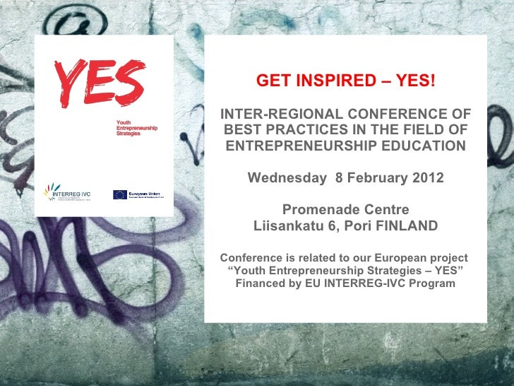 GET INSPIRED – YES!                                   INTER-REGIONAL CONFERENCE OF                                    BEST...