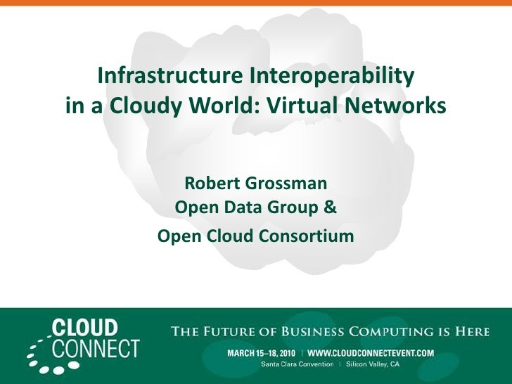 Infrastructure Interoperability in a Cloudy World: Virtual Networks<br />Robert GrossmanOpen Data Group & <br />Open Cloud...