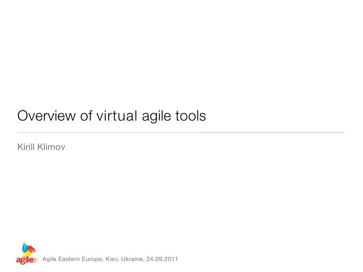 Overview of virtual agile tools