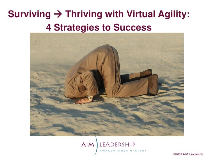 Surviving  Thriving with Virtual Agility:        4 Strategies to Success                                      ©2009 AIM L...