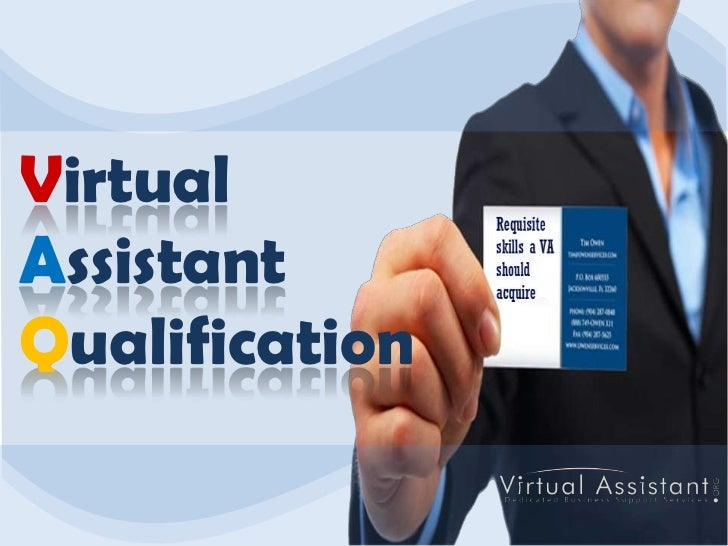 Virtual<br />AssistantQualification<br />