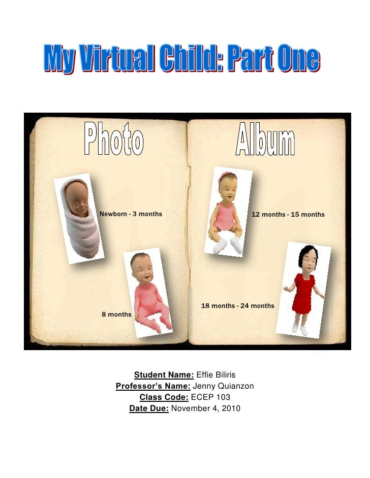 virtual child assignment 2 Parent - child literacy activity calendar 2005-2006 this colorful calendar offers tips, activities, suggested reading materials and more pdf (237mb.