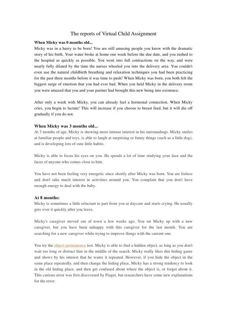 Virtual child assignment(part 1)