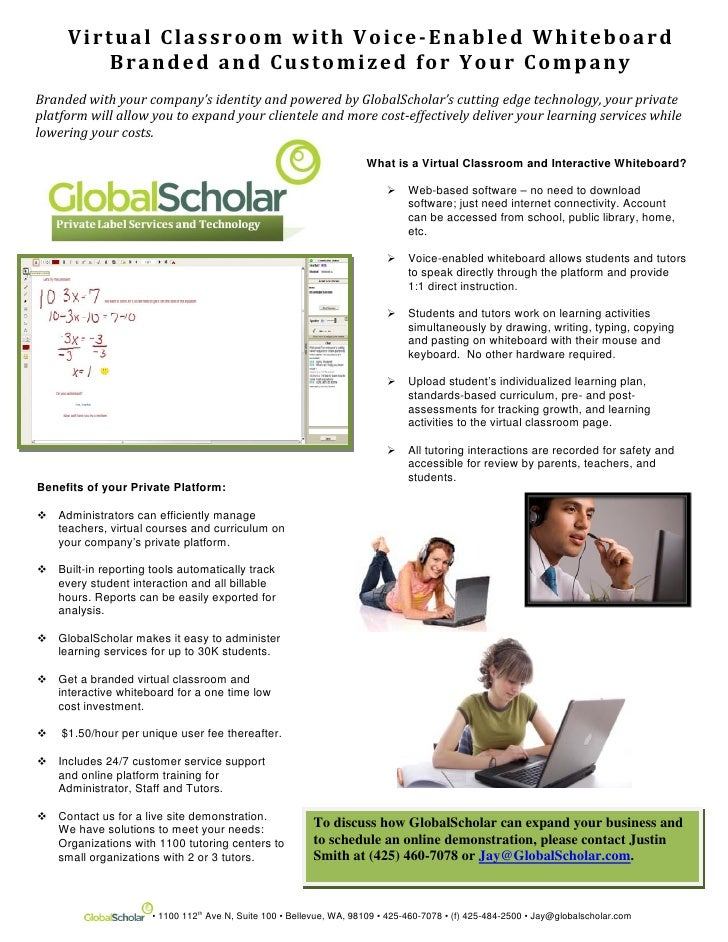 Virtual Classroom Sheet
