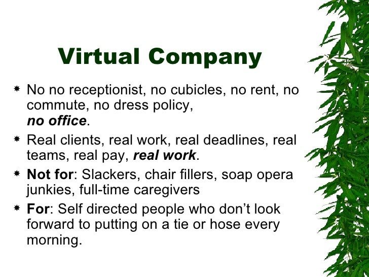 Virtual Company Tools