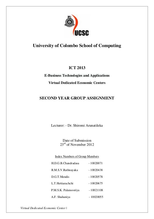 University of Colombo School of Computing                                      ICT 2013                 E-Business Technol...