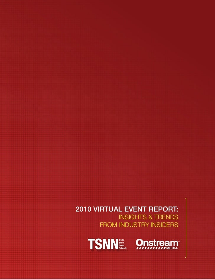 Virtual event report
