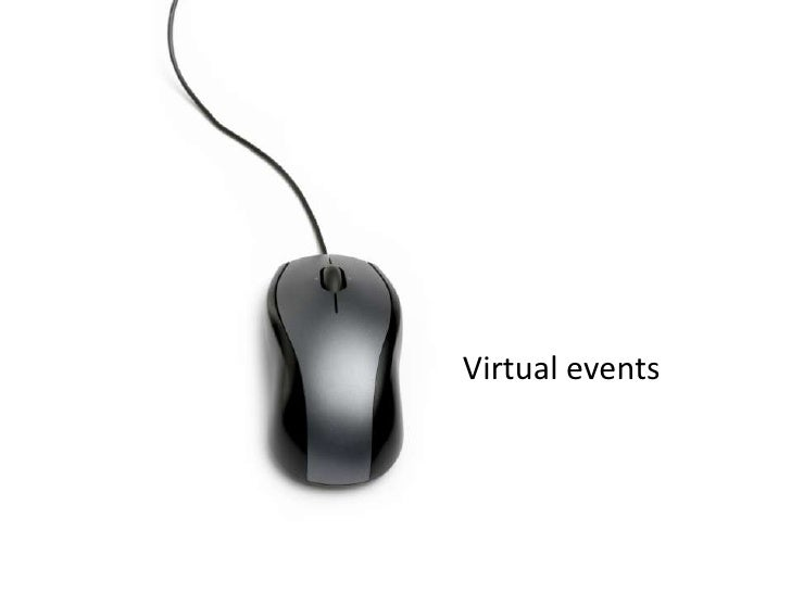 Virtual events<br />