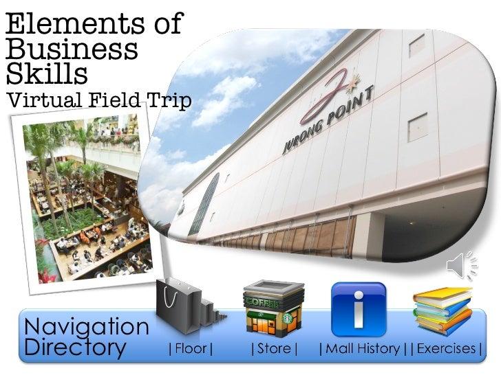Elements of Virtual Field Trip Business Skills Navigation Directory